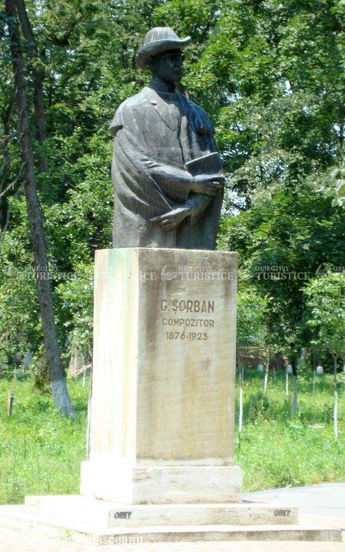 Bustul compozitorului G. Sorban