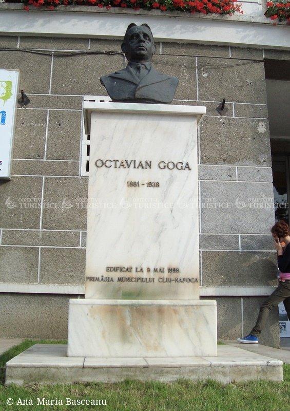 Bustul lui Octavian Goga