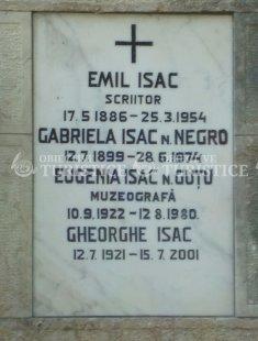 Mormantul lui Emil Isac